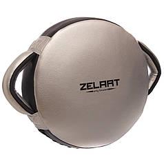 Маківара кругла planeta-sport Мікрофібра ZELART BO-1359 39x30x9 см Срібний