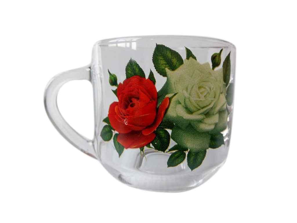 Чашка скляна Граміне 300мл Букет торянд 18с2022 ТМ ОСЗ