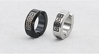 Сережки обманки з хрестом для пірсингу сталь зовні 14 мм всередині 9мм 2шт