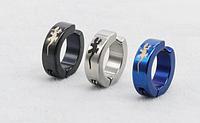 Сережки обманки для пірсингу сталь зовні 14 мм всередині 9мм 2шт