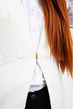 Жилет жіночий,мода однотонний, приталений білий, фото 5