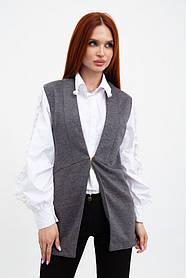 Жилет жіночий мода колір Сірий