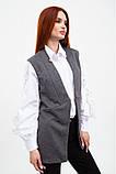 Жилет женский мода цвет Серый, фото 3