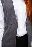 Жилет женский мода цвет Серый, фото 5
