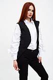 Жилет женский мода цвет Черный, фото 3