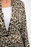 Жакет жіночий,мода легкий, леопардовий, бежево-чорний, фото 5