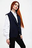 Жилет женский мода  темно-синий, фото 3