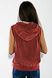 Жилетка жіноча мода колір Бордо, фото 3