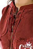 Жилетка женская мода цвет Бордо, фото 4