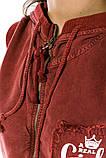 Жилетка жіноча мода колір Бордо, фото 4