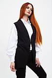 Жилет жіночий мода колір Чорний, фото 3