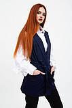 Жилет женский мода цвет Темно-синий, фото 3