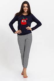 Піжама жіноча колір Синьо-червоний Trendy Moda