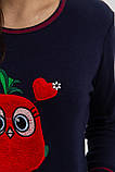 Піжама жіноча колір Синьо-червоний Trendy Moda, фото 5
