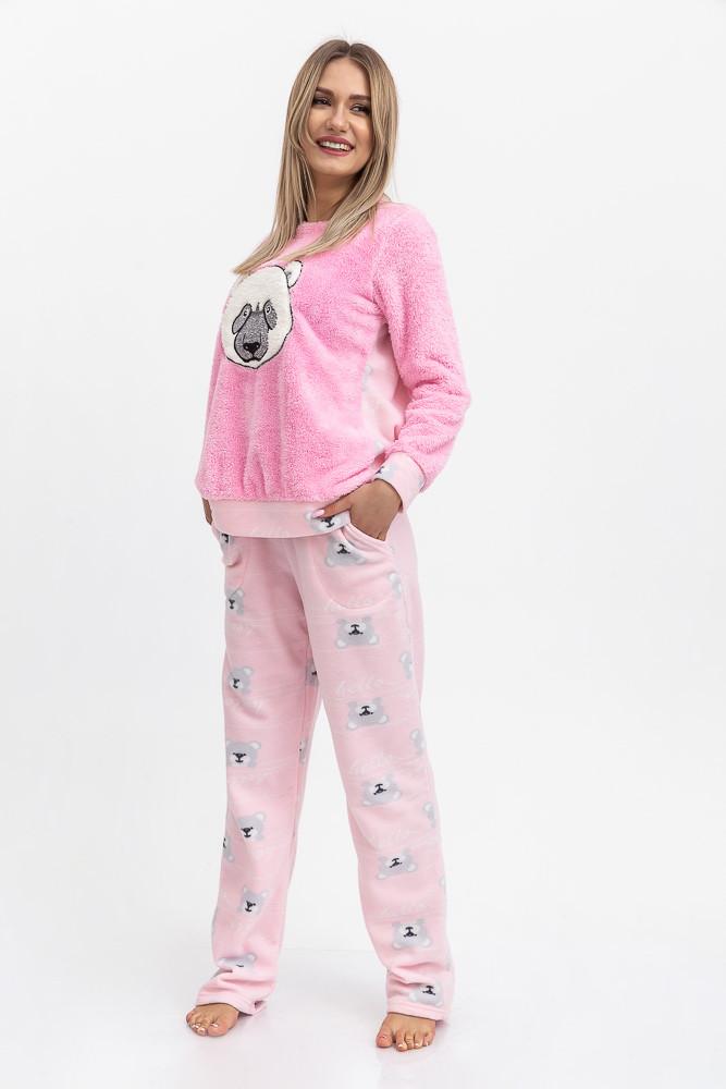Піжама жіноча колір Рожевий Trendy Moda