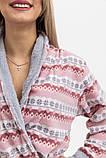Халат жіночий колір Рожево-сірий Trendy Moda, фото 4