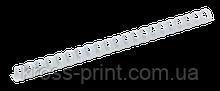Пластиковые пружины для переплета, d 25мм, А4, 200 л., круглые, белые, по 50 шт. в упаковке