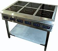 Плита индукционная промышленная восьмиконфорочная ПИ-6