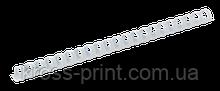 Пластиковые пружины для переплета, d 45мм, А4, 410 л., круглые, белые, по 50 шт. в упаковке
