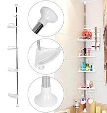 Угловая полка для ванной Multi Corner Shelf GY-188    4 полки 33*21,5см, фото 3