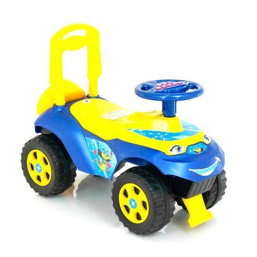 Толокар машинка-каталка, синій (укр.озвучка), Doloni Toys