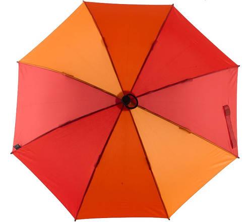 Симпатичный механический  зонт-трость EuroSCHIRM Swing W2U6-CW5/SU17685 оранжевый