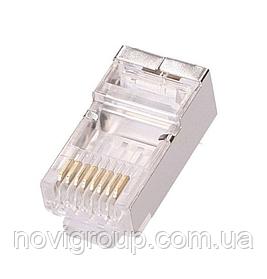 Конектор PiPo RJ-45 8P8C FTP Cat-5 (100 шт / уп.) Q100