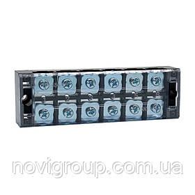 Клемна колодка 6-розрядна TB-4506 45A / 600V, перетин дроту 0,5-4,0мм2, 20 шт в упаковці, ціна за штуку