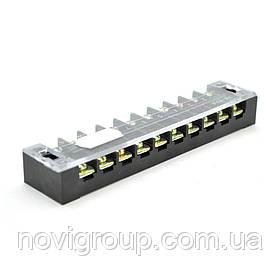 Клемна колодка 10-розрядна TB-2510 25A / 600V, перетин дроту 0,5-2,5 мм 2, 25 шт в упаковці, ціна за штуку