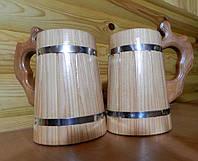 Кухоль пивний ручної роботи з модрини