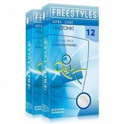 Презервативи FREESTYLES ULTRA LIGHT 12 штук (супер тонкі)