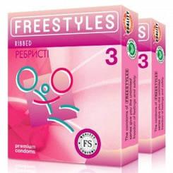 Презервативи Freestyles №3 Ribbed, ребристі