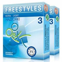 Презервативи Freestyles №3 Ultra Light, Супертонкі