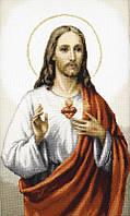 Набор для вышивки крестиком Иисус 25 х 415 см Чарівна Мить