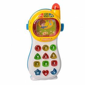 """Музыкальный развивающий телефон """"Кмітлива мобілочка"""" белый Play Smart 0103UK"""