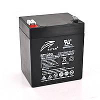 Акумуляторна батарея AGM RITAR RT1250B, Black Case, 12V 5.0Ah ( 90 х70 х 101 (107) )  Q10