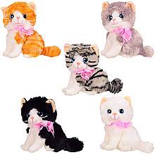 Мягкая игрушка кошки, муз. 5 видов, 20 см в п/э /48/