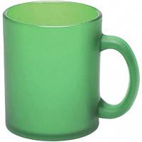 Кружка Лавиния Фрост стеклянная 340 мл, зеленая, от 10 шт