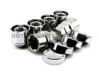 Гайки секретные с вращающимся кольцом открытые М12х1.25х22 конус, хром
