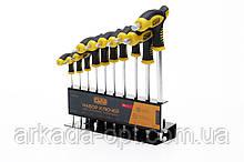 Набор ключей шестигранных СИЛА 2.5-10 мм (10шт) Т-образные (051257)