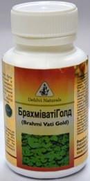 Брахмивати с аюрведическим золотом, Brahmivati  Dehlvi Naturals, №60*125 мг