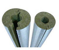 Скорлупа базальтовая фольгированная для труб 18мм, толщина 60мм