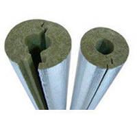 Скорлупа базальтовая фольгированная для труб 38мм, толщина 70мм