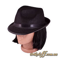 "Шляпа гангстера ""Федора"", фетр"