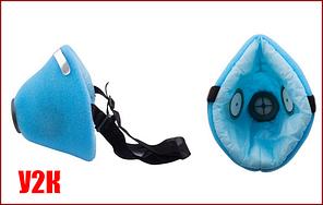 Респиратор У2К (код-2) голубой (без клеёнки внутри медицинская фильтроткань)
