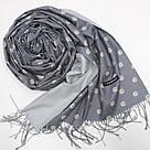 """Кашеміровий двосторонній шарф палантин """"Інеса"""" Cashmere 103008, фото 2"""