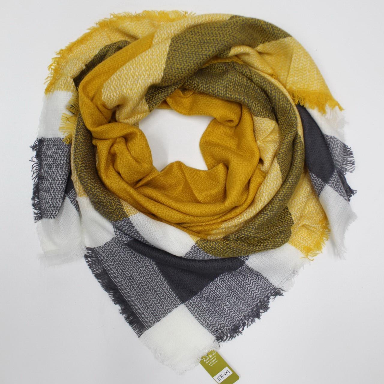 Большой теплый платок Cashmere 214001