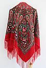 Платок украинский в народном стиле красный 611017, фото 6
