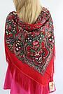 Платок украинский в народном стиле красный 611017, фото 7