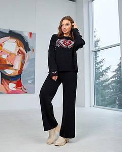 Набор: джемпер «Этно» и брюки (черный, красный, белый)